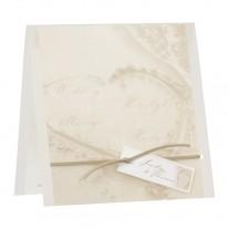 Hochzeitskarte Herz im Sand  (107.001)