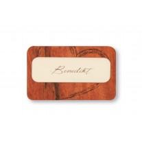 Tischkarte Echtes Holz (17T431)