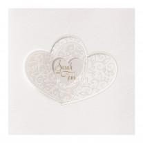 Hochzeitskarte Verschlungene Herzen (723909)