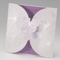 Hochzeitseinladung Zwei Schmetterlinge (725009D)