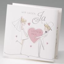 Hochzeitseinladung Herzballon (725044)