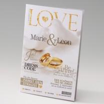 Hochzeitseinladung Zeitschrift (725045D)