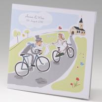 Hochzeitseinladung Fahrradtour (725049)
