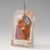 Hochzeitseinladung Kofferanhänger (725052D)