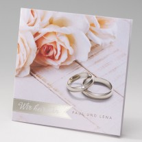 Hochzeitseinladung Rose (725084D)