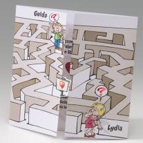 Hochzeitseinladung Labyrinth  (725279)