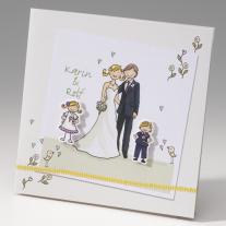 Hochzeitseinladung Braut-Kinder (725281)