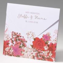 Hochzeitseinladung Blumengarten (725285)