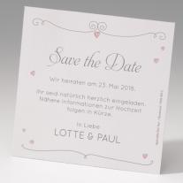 Save the Date-Karten Herzballon (725544)