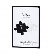 Menükarte passt zur Hochzeitseinladung -  Puzzle (725673)