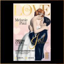 Kreative Hochzeitseinladung im Magazin-Stil