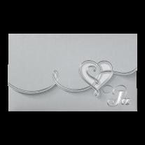 Ausgefallen Hochzeitseinladung mit Magnetverschluss und zierlichem Herzen
