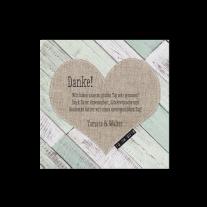 Dankeskarte passend zur hippen Hochzeitseinladung mit Gerüstbohlen