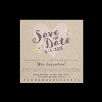 Save-the-Date passend zur Hochzeitseinladung im Stil eines Liebesbriefes