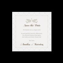 Save-the-Date passend zur Hochzeitseinladung in Hülle mit Magnetverschluss