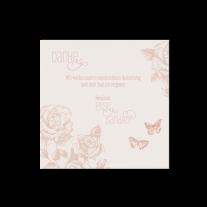 Dankeskarte passend zur Hochzeitseinladung mit Hülle aus Rosen