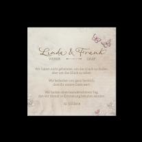 Dankeskarte passend zur Hochzeitseinladung mit eigenem Foto