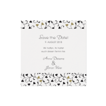 Save-the-Date passend zur Hochzeitseinladung mit Kreativem Sichtfenster