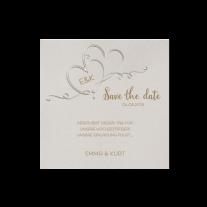 Save-the-Date passend zur romantischen Hochzeitseinladung