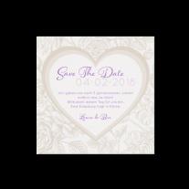 Save-the-Date passend zur klassischen dreiteiligen Hochzeitseinladung