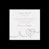 Dankeskarte passend zur Hochzeitseinladung mit Herz