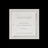 Save-the-Date passend zur Hochzeitseinladung mit Strasssteinchen