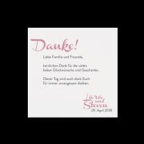 Dankkarte passend zur Liebliche Hochzeitseinladung auf Packpapier
