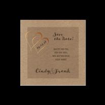 Save-the-Date  passend zur Hochzeitseinladung mit Herzen und Schleife