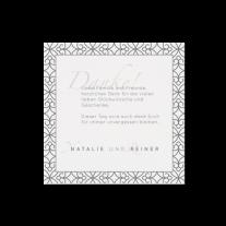 Dankeskarte passend zur Hochzeitseinladung mit gefalteter Ecke