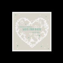 Save-the-Date passend zur hippen Hochzeitseinladung
