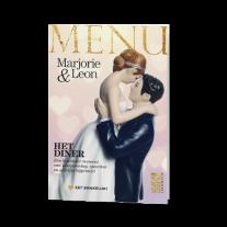 Menükarte passend zur Hochzeitseinladung im Magazin-Stil