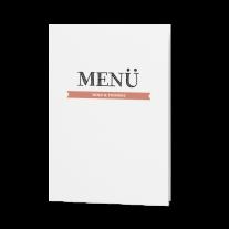 Menükarte passend zur moderne Hochzeitseinladung in Packpapier-Aufmachung