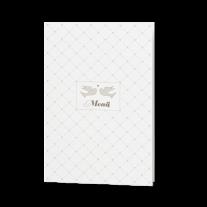 Menükarte passend zur Hochzeitseinladung in Hülle mit Magnetverschluss und Goldfolie