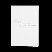 Menükarte passend zur Schicke Hochzeitseinladung mit zierlicher Schriftart