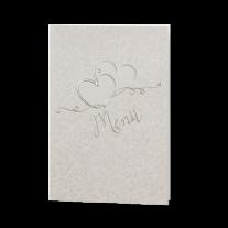 Menükarte passend zur romantischen Hochzeitseinladung