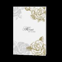 Menükarte passend zur luxuriösen Pochette-Hochzeitseinladung
