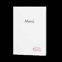 Menükarte passend zur Liebliche Hochzeitseinladung auf Packpapier