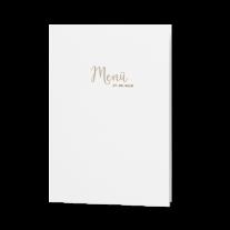 Menükarte passend zur Hochzeitseinladung verarbeitet auf Packpapier