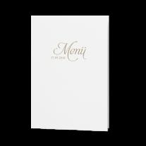 Menükarte passend zur  Hochzeitseinladung in einer Hülle aus Packpapier