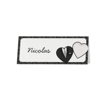 Tischkarte (6 Stk.) passend zur Hochzeitseinladung mit Herzen