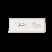 Tischkarte (6 Stk.) passend zur Pochette-Hochzeitseinladung mit Blumen