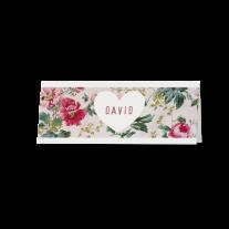 Tischkarte (6 Stk.) passend zur klassischen Hochzeitseinladung mit Blumen