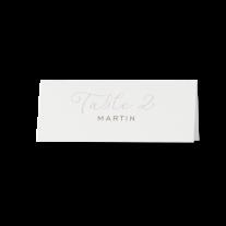 Tischkarte (6 Stk.) passend zur Schicke Hochzeitseinladung mit zierlicher Schriftart