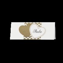 Tischkarte (6 Stk.) passend zur schicken Hochzeitseinladung in moderner Aufmachung