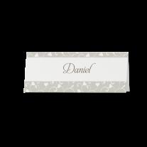 Tischkarte (6 Stk.) passend zur Hochzeitseinladung in stilvoller Banderole