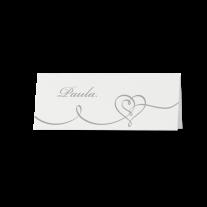 Tischkarte (6 Stk.) passend zur Hochzeitseinladung mit Magnetverschluss und Herz
