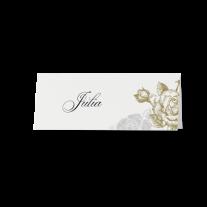 Tischkarte (6 Stk.) passend zur luxuriösen Pochette-Hochzeitseinladung mit Ausschnitt