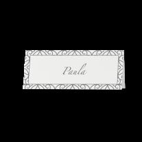Tischkarte (6 Stk.) passend zur Hochzeitseinladung mit gefalteter Ecke