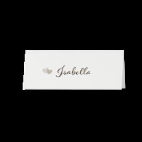 Tischkarte (6 Stk.) passend zur romantische Hochzeitseinladung auf Perlmuttpapier