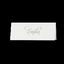 Tischkarte (6 Stk.) passend zur  Hochzeitseinladung in einer Hülle aus Packpapier